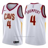 Camiseta Cleveland Cavaliers Iman Shumpert #4 Swingman Association 2017-18 Blanco