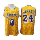 Camiseta Los Angeles Lakers Kobe Bryant #24 Bryant Mitchell & Ness Amarillo
