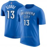 Camiseta Manga Corta Paul George Oklahoma City Thunder 2019 Azul