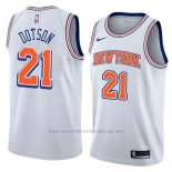Camiseta New York Knicks Damyean Dotson #21 Statement 2018 Blanco