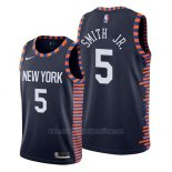 Camiseta New York Knicks Dennis Smith Jr. #5 Ciudad 2019 Azul