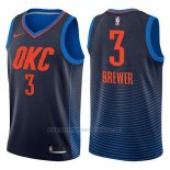 Camiseta Oklahoma City Thunder Corey Brewer #3 Statement 2017-18 Azul