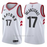 Camiseta Toronto Raptors Jonas Valanciunas #17 Association 2017-18 Blanco