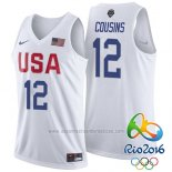 Camiseta USA 2016 DeMarcus Cousins #12 Blanco
