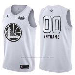 Camiseta All Star 2018 Golden State Warriors Nike Personalizada Blanco