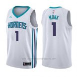 Camiseta Charlotte Hornets Malik Monk #1 Association 2017-18 Blanco