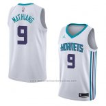 Camiseta Charlotte Hornets Mangok Mathiang #9 Association 2018 Blanco