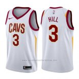 Camiseta Cleveland Cavaliers George Hill #3 Association 2017-18 Blanco