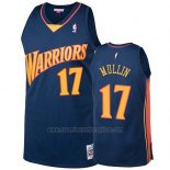Camiseta Golden State Warriors Chris Mullin 2009-10 Hardwood Classics Azul
