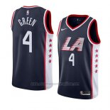 Camiseta Los Angeles Clippers Jamychal Green #4 Ciudad 2019 Azul