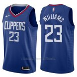 Camiseta Los Angeles Clippers Lou Williams #23 Icon 2017-18 Azul