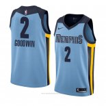 Camiseta Memphis Grizzlies Brandon Goodwin #2 Statement 2018 Azul