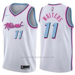 Camiseta Miami Heat Dion Waiters #11 Ciudad 2017-18 Blanco