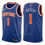 Camiseta New York Knicks Emmanuel Mudiay #1 Icon 2017-18 Azul