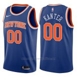 Camiseta New York Knicks Enes Kanter #00 Icon 2017-18 Azul
