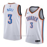 Camiseta Oklahoma City Thunder Nerlens Noel #3 Association 2018 Blanco