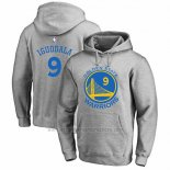 Sudaderas con Capucha Andre Iguodala Golden State Warriors Gris2