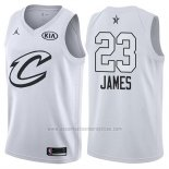 Camiseta All Star 2018 Cleveland Cavaliers Lebron James #23 Blanco