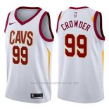 Camiseta Cleveland Cavaliers Jae Crowder #99 Swingman Association 2017-18 Blanco