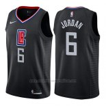 Camiseta Los Angeles Clippers Deandre Jordan #6 Statement 2019 Negro