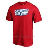 Camiseta Manga Corta Los Angeles Clippers Rojo 2019 NBA Playoffs Our Way