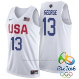 Camiseta USA 2016 Paul George #13 Blanco