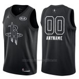 Camiseta All Star 2018 Houston Rockets Nike Personalizada Negro