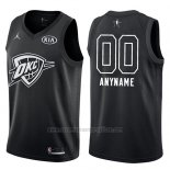 Camiseta All Star 2018 Oklahoma City Thunder Nike Personalizada Negro