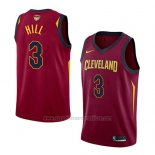 Camiseta Cleveland Cavaliers George Hill #3 Icon 2017-18 Finals Bound Rojo
