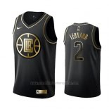 Camiseta Golden Edition Los Angeles Clippers Kawhi Leonard #2 Negro