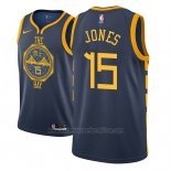 Camiseta Golden State Warriors Damian Jones #15 Ciudad 2018-19 Azul