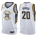 Camiseta Indiana Pacers Trevor Booker #20 Association 2017-18 Blanco