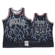 Camiseta Lightning Chicago Bulls Scottie Pippen #33 Negro