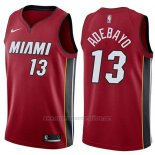 Camiseta Miami Heat Bam Adebayo #13 Statement 2017-18 Rojo