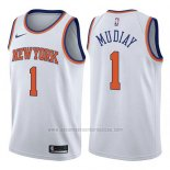 Camiseta New York Knicks Emmanuel Mudiay #1 Association 2017-18 Blanco