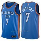 Camiseta Oklahoma City Thunder Carmelo Anthony #7 2017-18 Azul
