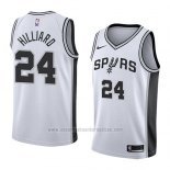 Camiseta San Antonio Spurs Darrun Hilliard #24 Association 2018 Blanco