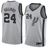 Camiseta San Antonio Spurs Darrun Hilliard #24 Statement 2018 Gris