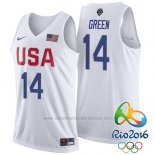 Camiseta USA 2016 Draymond Green #14 Blanco