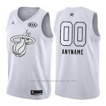 Camiseta All Star 2018 Miami Heat Nike Personalizada Blanco