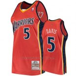 Camiseta Golden State Warriors Baron Davis 2009-10 Hardwood Classics Naranja