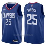 Camiseta Los Angeles Clippers Austin Rivers #25 Icon 2017-18 Azul