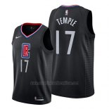 Camiseta Los Angeles Clippers Garrett Temple #17 Statement 2019 Negro