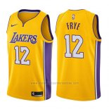 Camiseta Los Angeles Lakers Channing Frye #12 Icon 2017-18 Oro