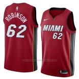 Camiseta Miami Heat Duncan Robinson #62 Statement 2018 Rojo