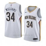 Camiseta New Orleans Pelicans Kenrich Williams #34 Association 2018 Blanco