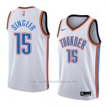 Camiseta Oklahoma City Thunder Kyle Singler #15 Association 2018 Blanco