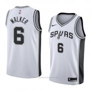 Camiseta San Antonio Spurs Lonnie Walker #6 Association 2018 Blanco