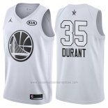 Camiseta All Star 2018 Golden State Warriors Kevin Durant #35 Blanco