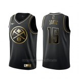 Camiseta Golden Edition Denver Nuggets Nikola Jokic #15 Negro